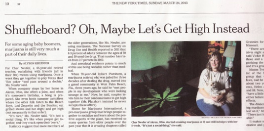 "NY Times acknowledges MJ use by ""older folk"""