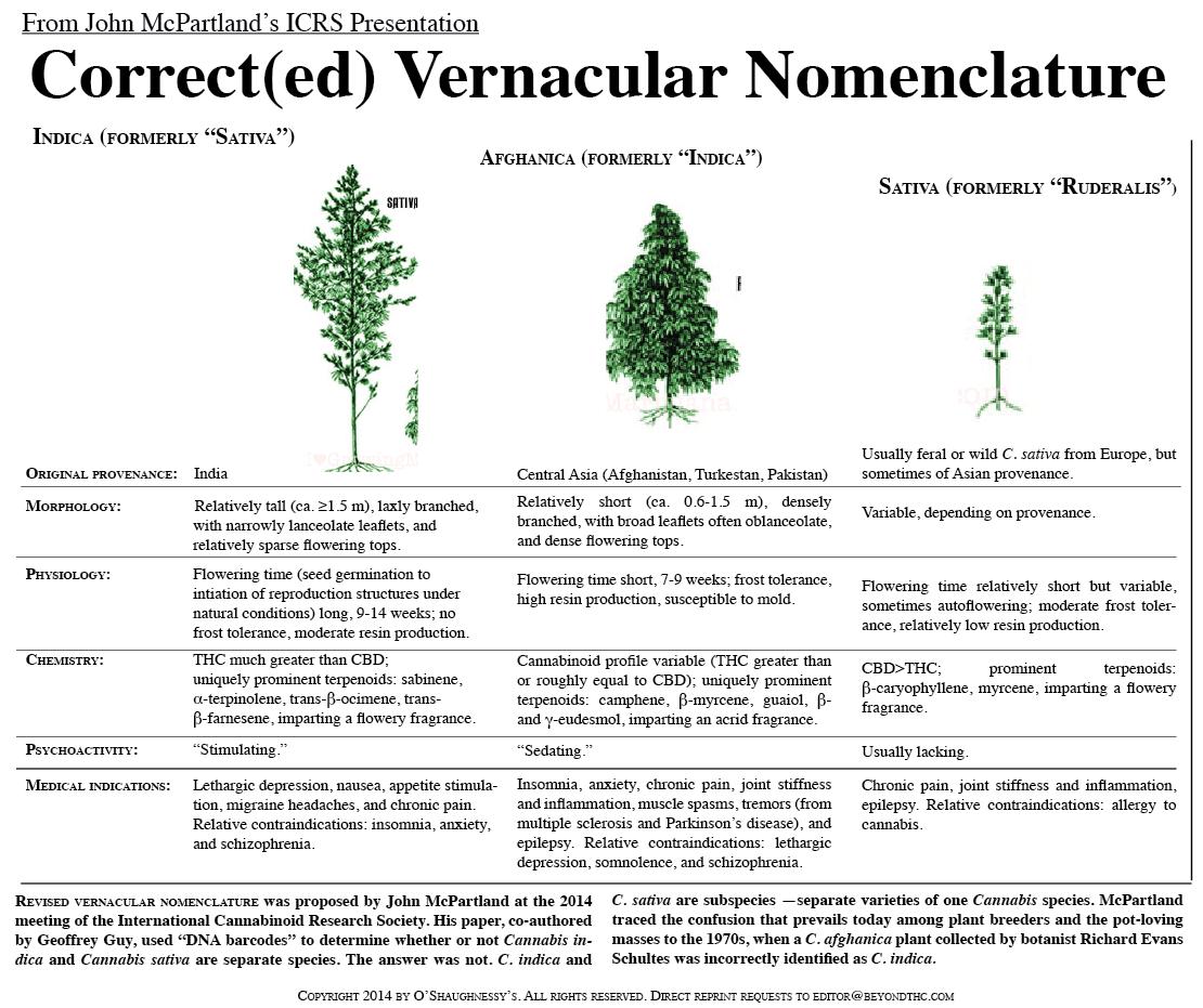 McPartland's Correct(ed) Vernacular Nomenclature