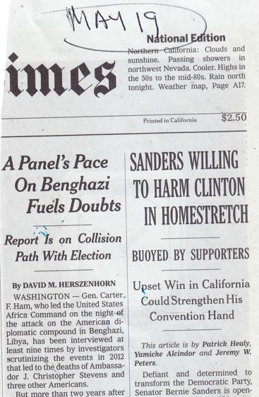 NY Times Heart Hillary
