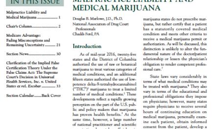 Malpractice Liability and Medical Marijuana