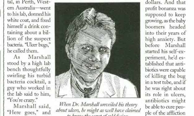 Dr. Barry Marshall's Downplayed Discovery